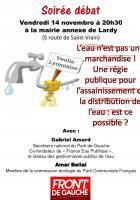Mairie annexe de Lardy : L'eau n'est pas une marchandise