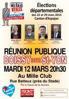 Affichette Boissy sous St Yon