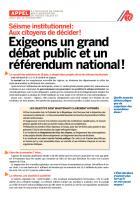 Séisme institutionnel: Aux citoyens de décider!