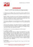 Communiqué France 3