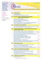 La lettre du réseau n°63 - décembre 2013