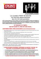 Tract Front de Gauche St Pierre- Saintry