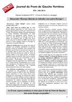 JOURNAL DU FRONT DE GAUCHE VERRIERES