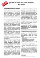 Journal du Front de Gauche de Verrières