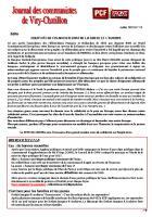 Journal des communistes de Viry