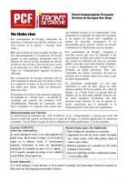 JOURNAL DU PCF DE SAVIGNY SUR ORGE