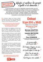 Invitation au débat Services publics du 10 juin