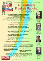 Quatre candidats Front de Gauche, pourquoi ?