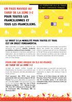 UN PASS NAVIGO AU TARIF DE LA ZONE 1-2