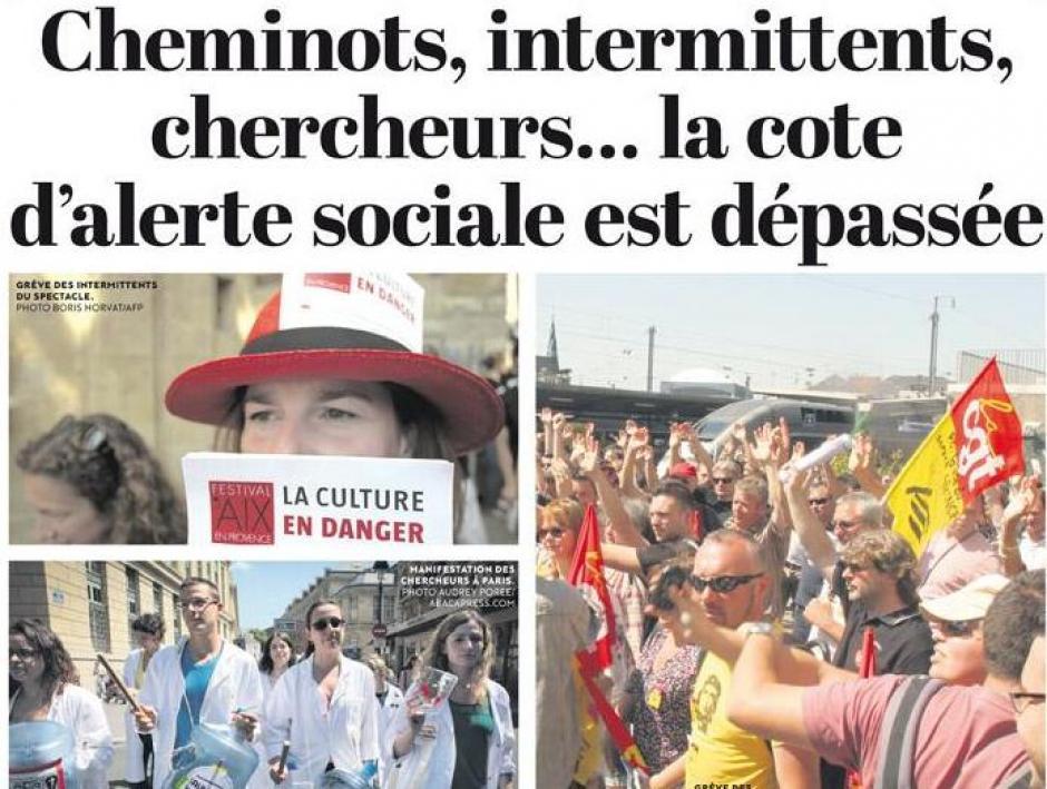 Soutien aux cheminots en grève et aux intermittents et à tous ceux qui luttent en Essonne..
