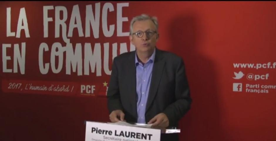 Déclaration de Pierre Laurent
