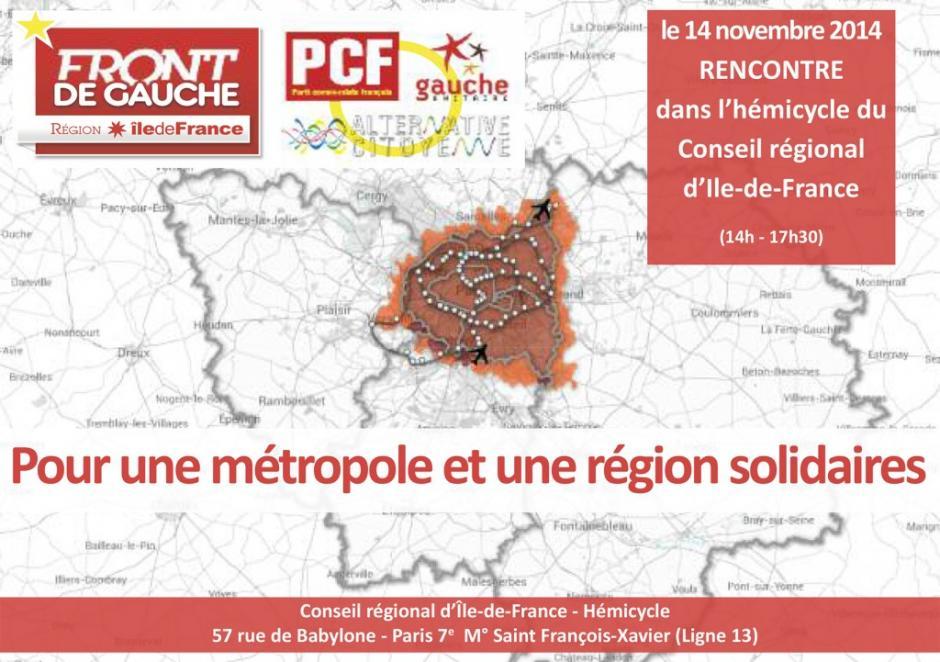 Hémicycle du Conseil régional : Pour une métropole et une région solidaire