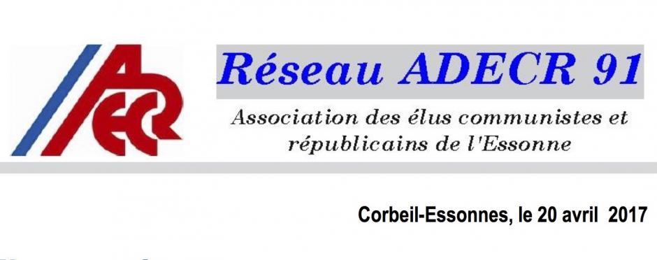 L'ADECR 91 s'adresse aux élus, postiers et usagers pour la défense des bureaux de Poste.