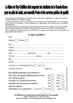 Le Maire de Viry-Châtillon doit respecter les habitants de la Grande-Borne pour un pôle de santé, une nouvelle Poste et des services publics de qualité