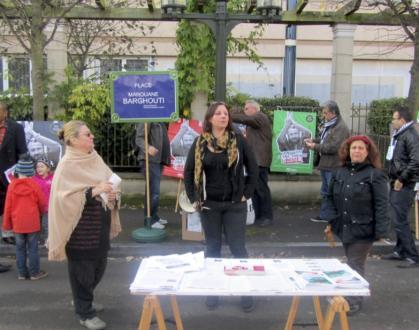 inauguration de la place Marouane Barghouti à Epinay sous Sénart