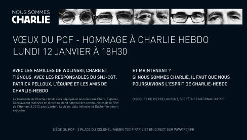 VOEUX DU PCF, hommage à Charlie Hebdo