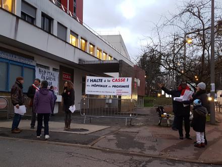 Hôpitaux de Longjumeau et Orsay en grève.