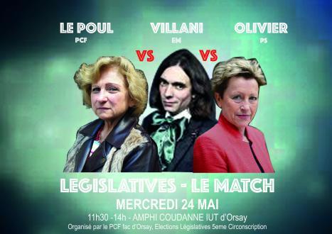 Débat avec les candidats de la 5e à la Fac d'Orsay